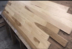 "3"" x 3/4"" Prefinished Hickory Square Edge Hardwood Flooring"