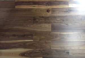 "6 1/2"" x 7/16"" Engineered Walnut Natural Stain Hardwood Flooring"