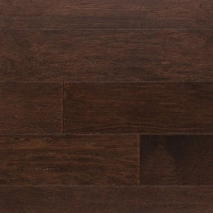 "5"" x 3/8"" Engineered Hickory Hong Kong Stain Hardwood Flooring"
