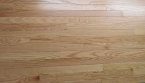 "2 1/4"" x 3/4"" Prefinished Red Oak Natural Stain Hardwood Flooring"