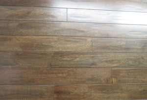 "5"" x 3/4"" Prefinished Eucalyptus Custom Brown Stain Hardwood Flooring"