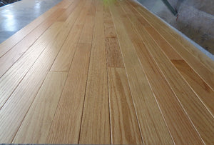 "2 1/4"" x 5/8"" Engineered Red Oak Natural Stain Hardwood Flooring"