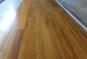 "2 1/4"" x 3/4"" Prefinished Hickory Golden Brown Stain Hardwood Flooring"