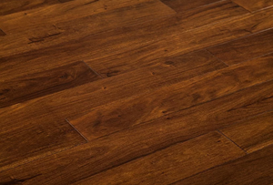 "4 3/4"" x 9/16""  Engineered Acacia Toffee Hand Scraped Hardwood Flooring"