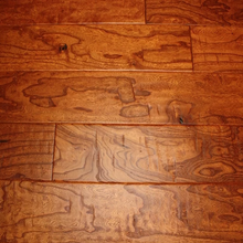 "Load image into Gallery viewer, 5"" x 9/16"" Engineered Elm Amaretto Hand Scraped Flooring"