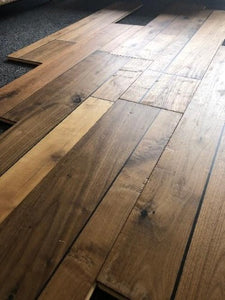 "7 1/2"" x 5/8"" Engineered Walnut with French Bleed Hardwood Flooring"