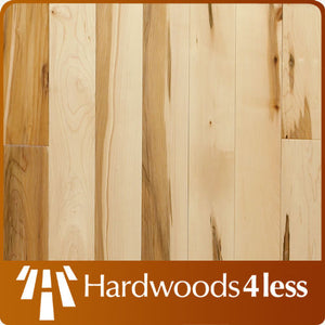 "4"" x 3/4"" Maple Rustic Natural Hardwood Flooring Closeout"
