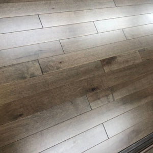 "3 1/4"" x 3/4"" Maple Hardwood Flooring Stormy Stain"