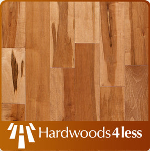 "3 1/4"" x 3/4"" Maple Rustic Grade with Golden  Stain Hardwood Flooring"
