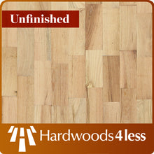 "Load image into Gallery viewer, 3 1/4"" x 3/4"" Red Oak Rustic Unfinished Hardwood Flooring Mini Shorts"