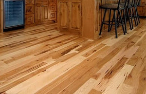 "5"" x 3/4""  Hickory Hardwood Flooring Prefinished Solid Natural"