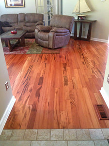 "5"" x 3/4"" Tigerwood Solid  Hardwood Flooring #1 Common"