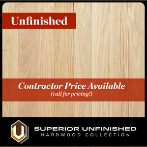 "3"" x 3/4"" Red Oak  Select & Better Unfinished Hardwood Flooring"
