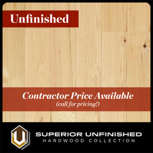 "4"" x 3/4"" Red Oak Character Grade - 2' to 10' Lengths - Unfinished Hardwood Flooring"