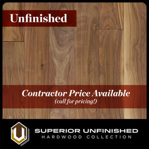 "5"" x 3/4""  Walnut Select and Better Unfinished Hardwood Flooring"
