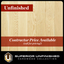 "Load image into Gallery viewer, 6"" x 3/4"" White Oak  Select & Better Unfinished Hardwood Flooring"