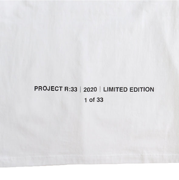 PROJECT R:33 NEVER Short Sleeve T White