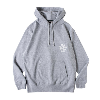Hoodie Have The Time Of Your Life Grey×White