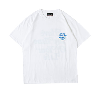 Short Sleeve T  Have The Time Of Your Life White×Blue