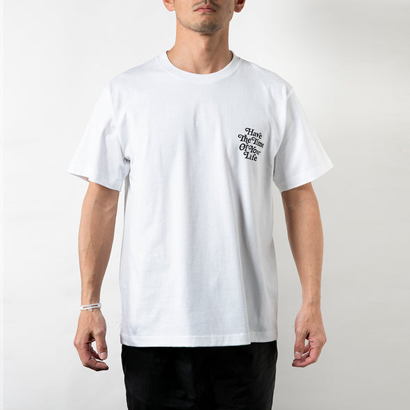 Short Sleeve T  Have The Time Of Your Life White×Black