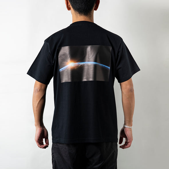 Short Sleeve T Earth Photo Design Black