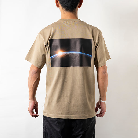 Short Sleeve T Earth Photo Design Sand Khaki