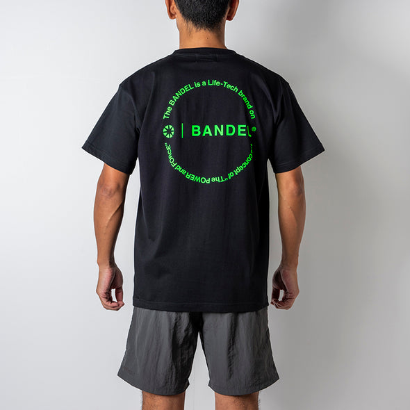 Circle-Logo Short Sleeve T Black×Neon Green