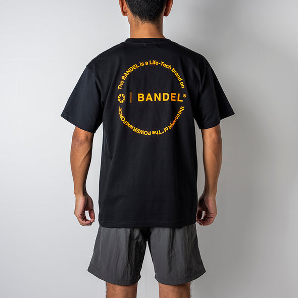 Circle-Logo Short Sleeve T Black×Neon Orange