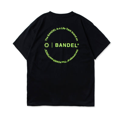 Circle-Logo Short Sleeve T Black×Neon Yellow