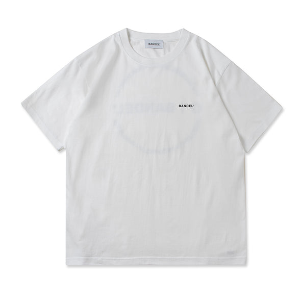 Circle-Logo Short Sleeve T White×Black