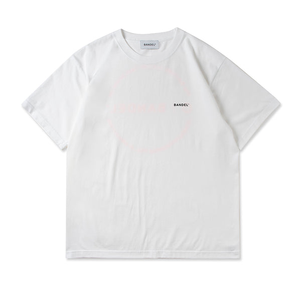 Circle-Logo Short Sleeve T White×Neon Orange