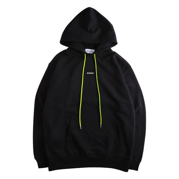 GHOST Hoodie BAN-HD007 Black×Neon Yellow