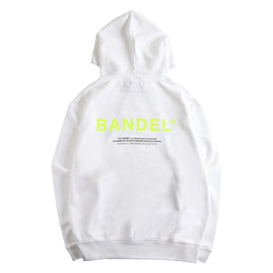 GHOST Hoodie BAN-HD007 White×Neon Yellow