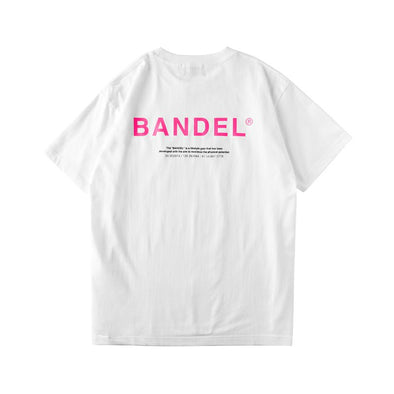 GHOST Short Sleeve T BAN-T011 White×Neon Pink