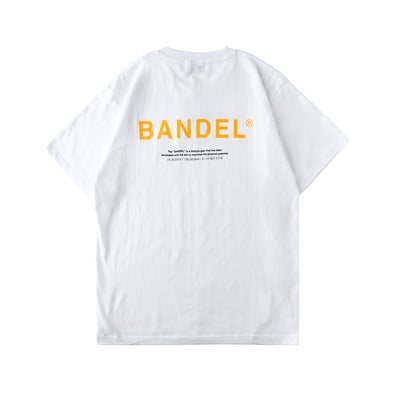 GHOST Short Sleeve T BAN-T011 White×Neon Orange