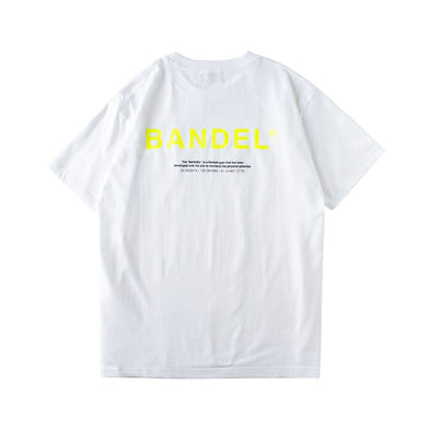 GHOST Short Sleeve T BAN-T011 White×Neon Yellow