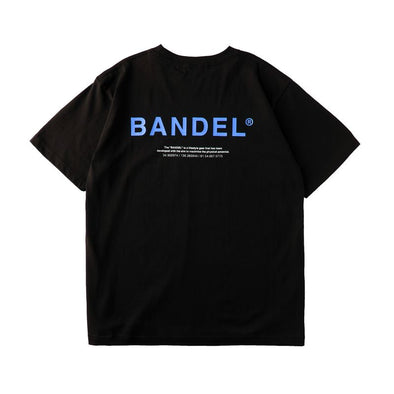 GHOST Short Sleeve T BAN-T011 Black×Neon Blue