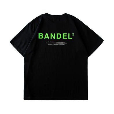 GHOST Short Sleeve T BAN-T011 Black×Neon Green