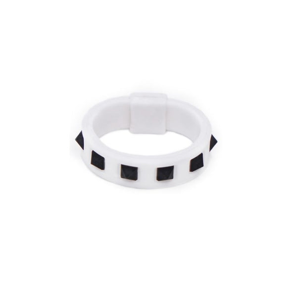 Studs Ring White×Black