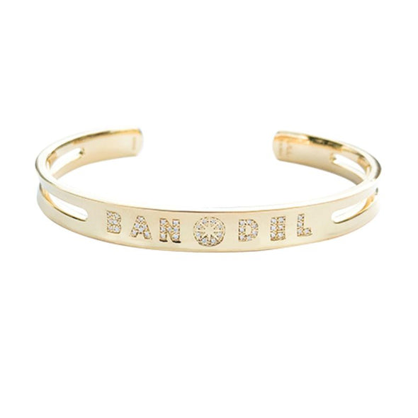 Diamond Custom Bangle Gold