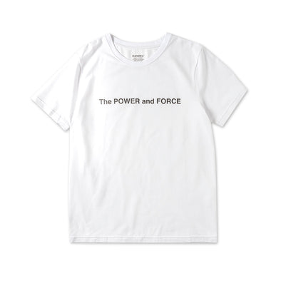 The POWER&FORCE Short Sleeve T/White
