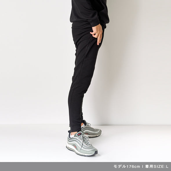 Jogger Pants Calf Logo Print Black