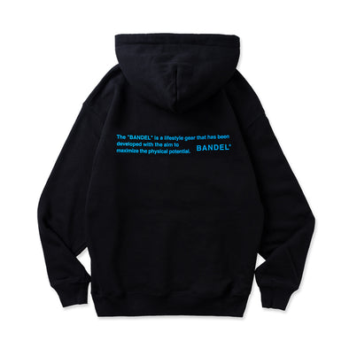 Hoodie GHOST concept notes Black×Neon Blue