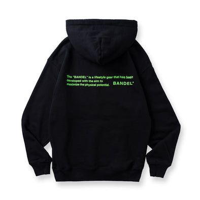 Hoodie GHOST concept notes Black×Neon Green