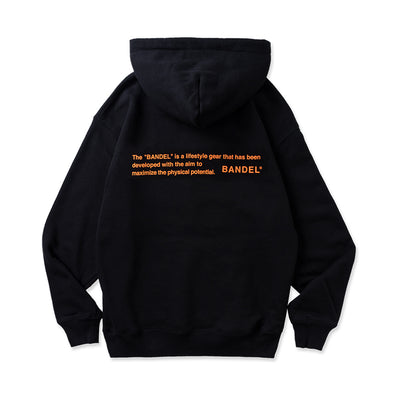 Hoodie GHOST concept notes Black×Neon Orange