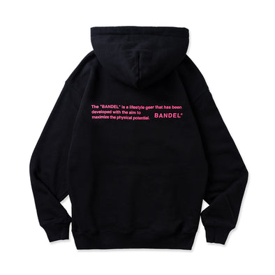 Hoodie GHOST concept notes Black×Neon Pink