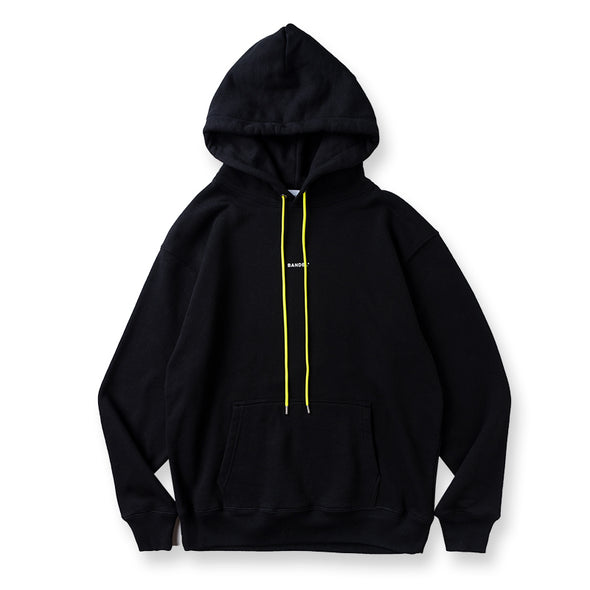 Hoodie GHOST concept notes Black×Neon yellow
