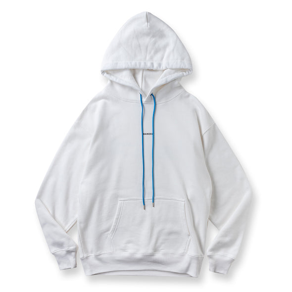 Hoodie GHOST concept notes White×Neon Blue