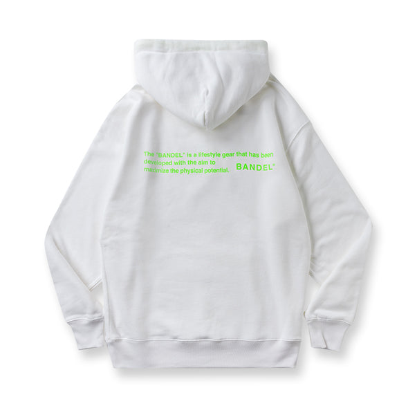 Hoodie GHOST concept notes White×Neon Green