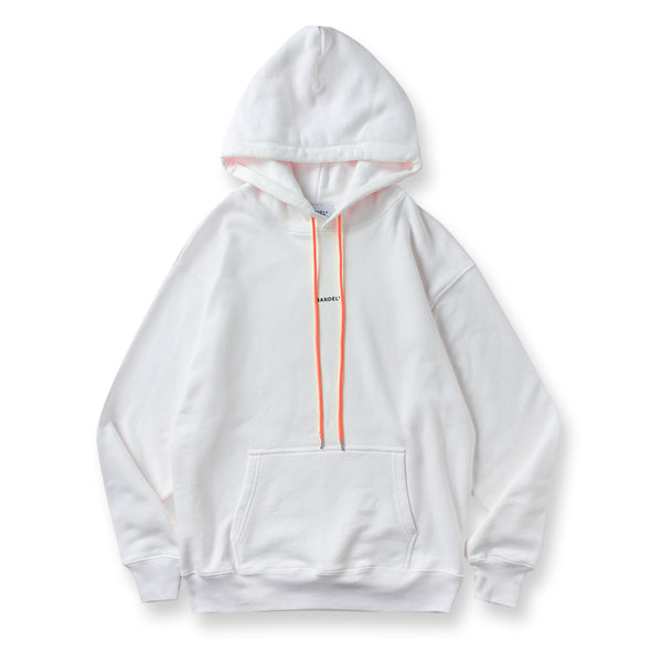 Hoodie GHOST concept notes White×Neon Orange